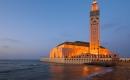 King Hasssan II mosque, Casablanca at dusk